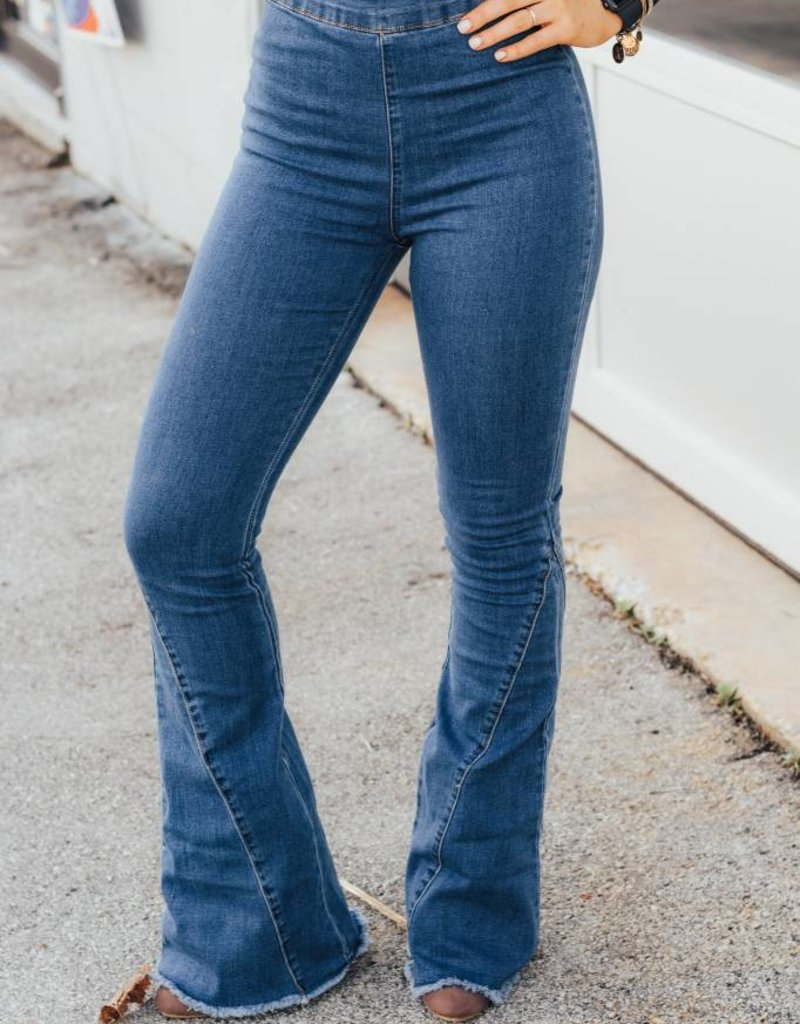 LUXE Off She Goes Flare Jean
