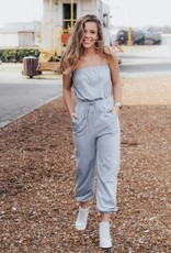 LUXE Got Your Back Strapless Jumpsuit