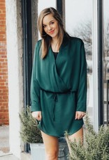 LUXE Sleek & Stylish Hunter Green Dress