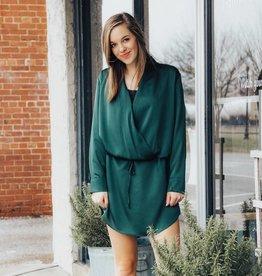 LUXE Sleek & Stylish Hunter Green Dress