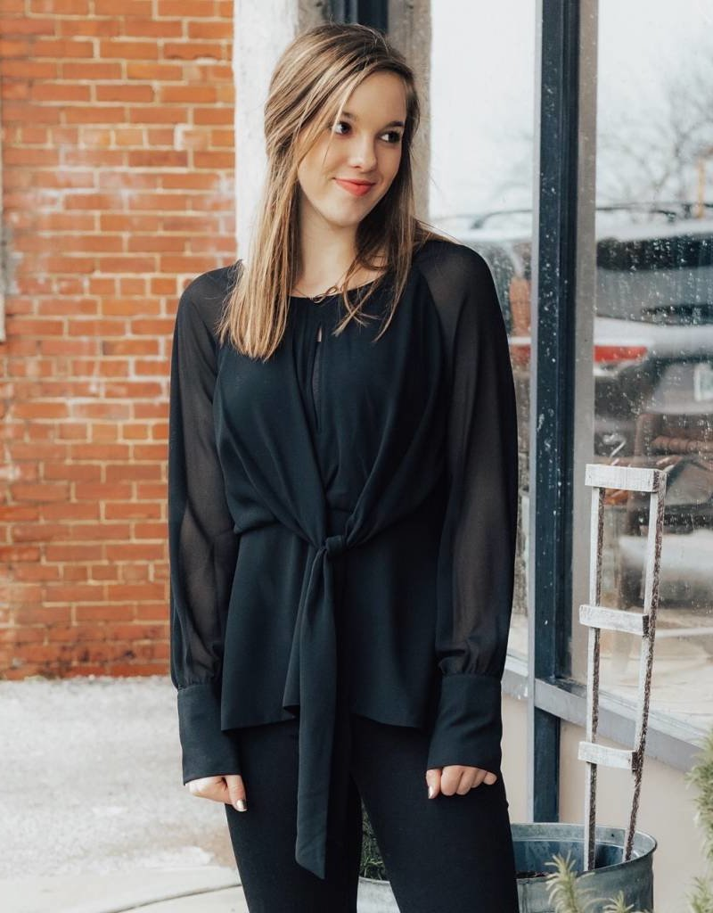 LUXE On The Scene Black Blouse