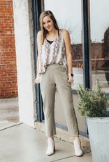 LAYNEE & LEE No Limit Side Slit Cotton Pant