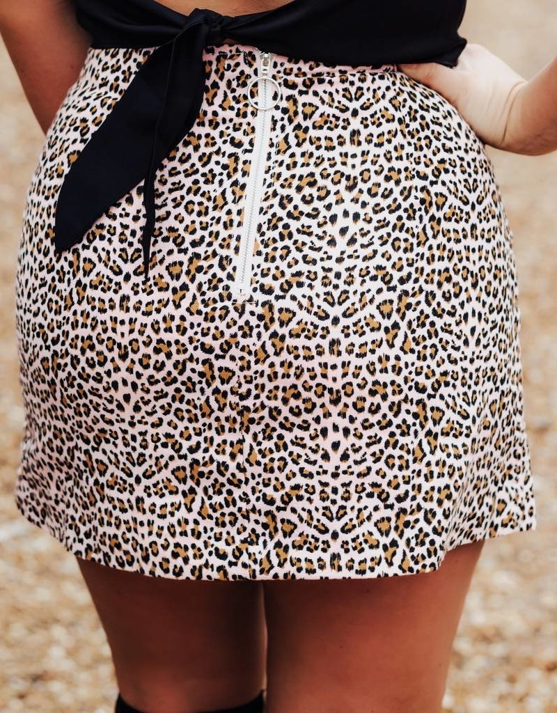 LUXE Cheetahlicious Mini Skirt
