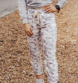 LUXE Bold Kind of Love Camo Jogger