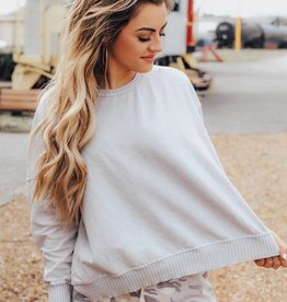 LUXE Ready For Anything Open Back Sweatshirt