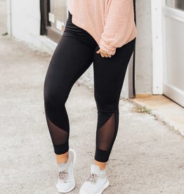 LUXE Simple & Chic Black Legging
