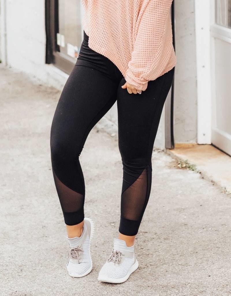 LUXE Simple & Chic Black Legging