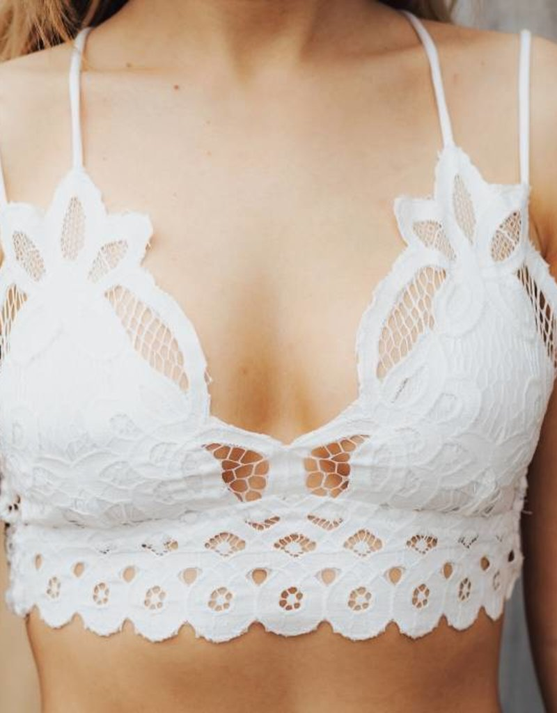 LAYNEE & LEE Go-To Strappy Lace Bralette
