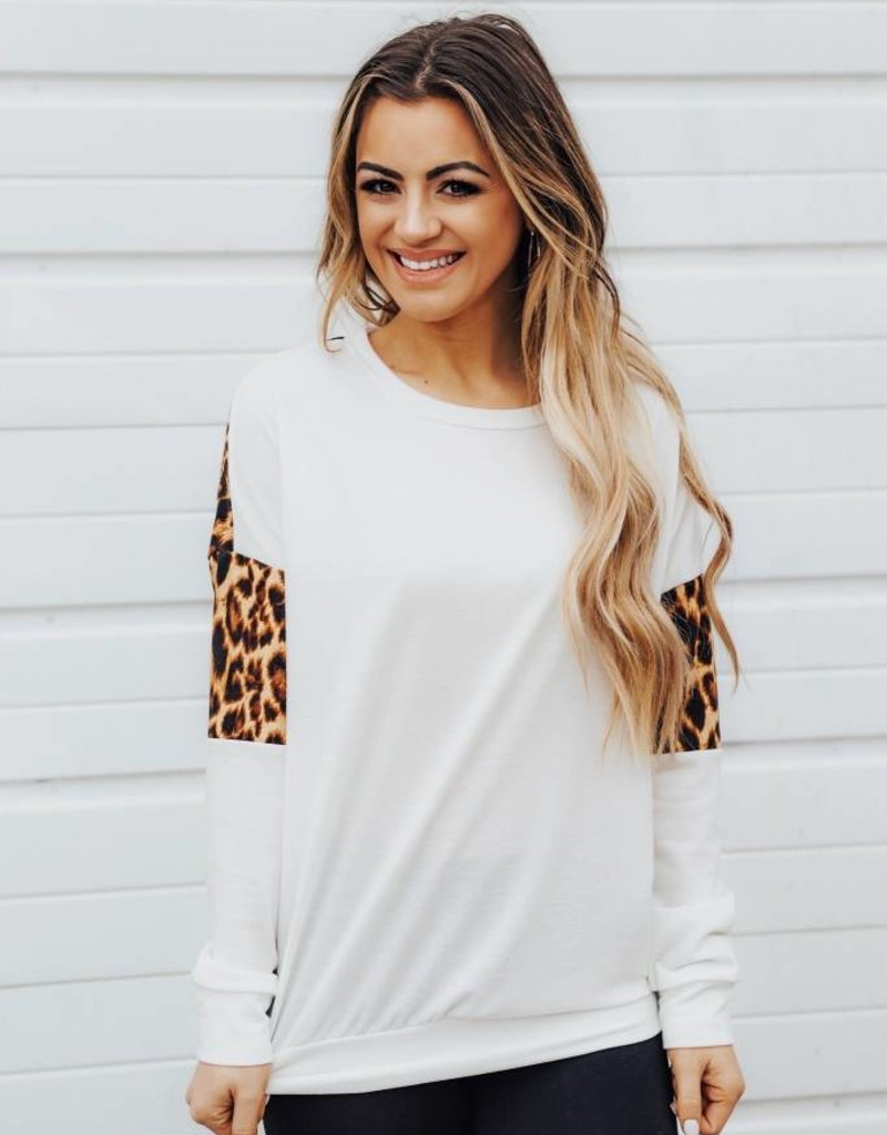LUXE Wild About It Varsity Sweatshirt