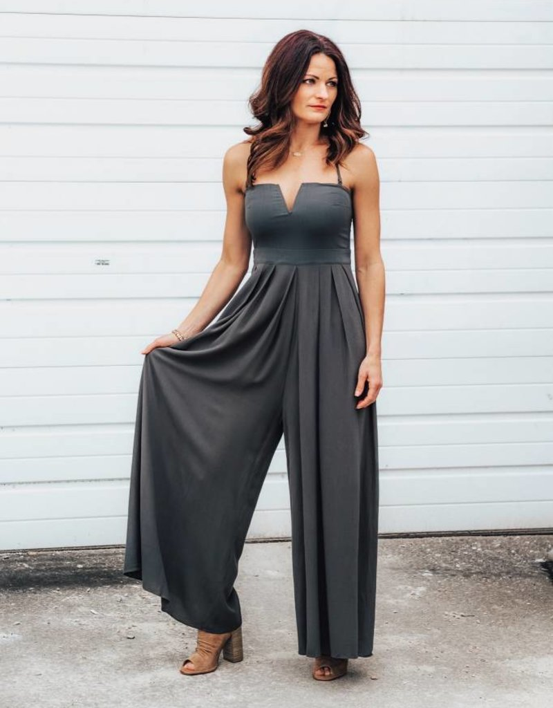 LUXE In Your Arms Olive Jumpsuit