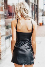 LAYNEE & LEE Play Nice Faux Leather Mini Dress