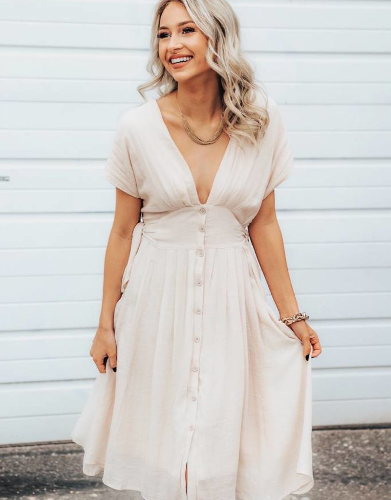 LUXE Light-Hearted Fun Midi Dress