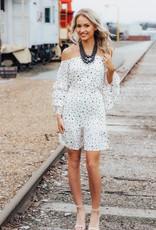LUXE Deep In Love Polka Dot Dress