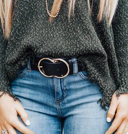 LUXE Everyday Basic Double Ring Belt