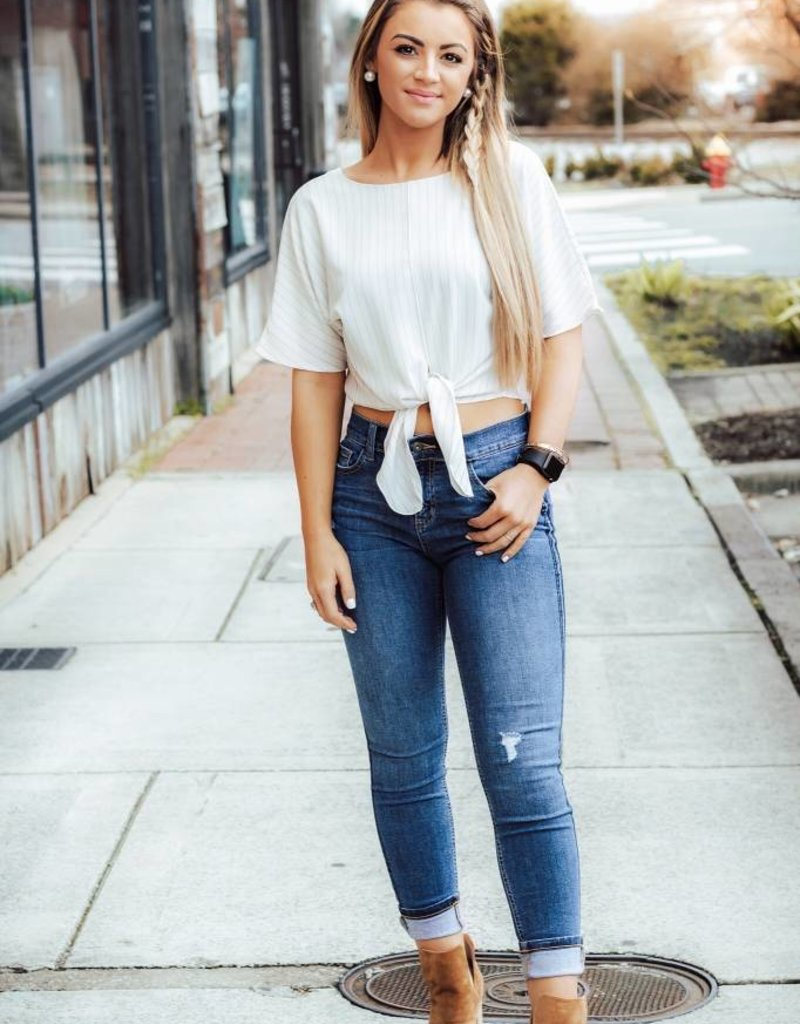LUXE The Sky's the Limit Crop Top