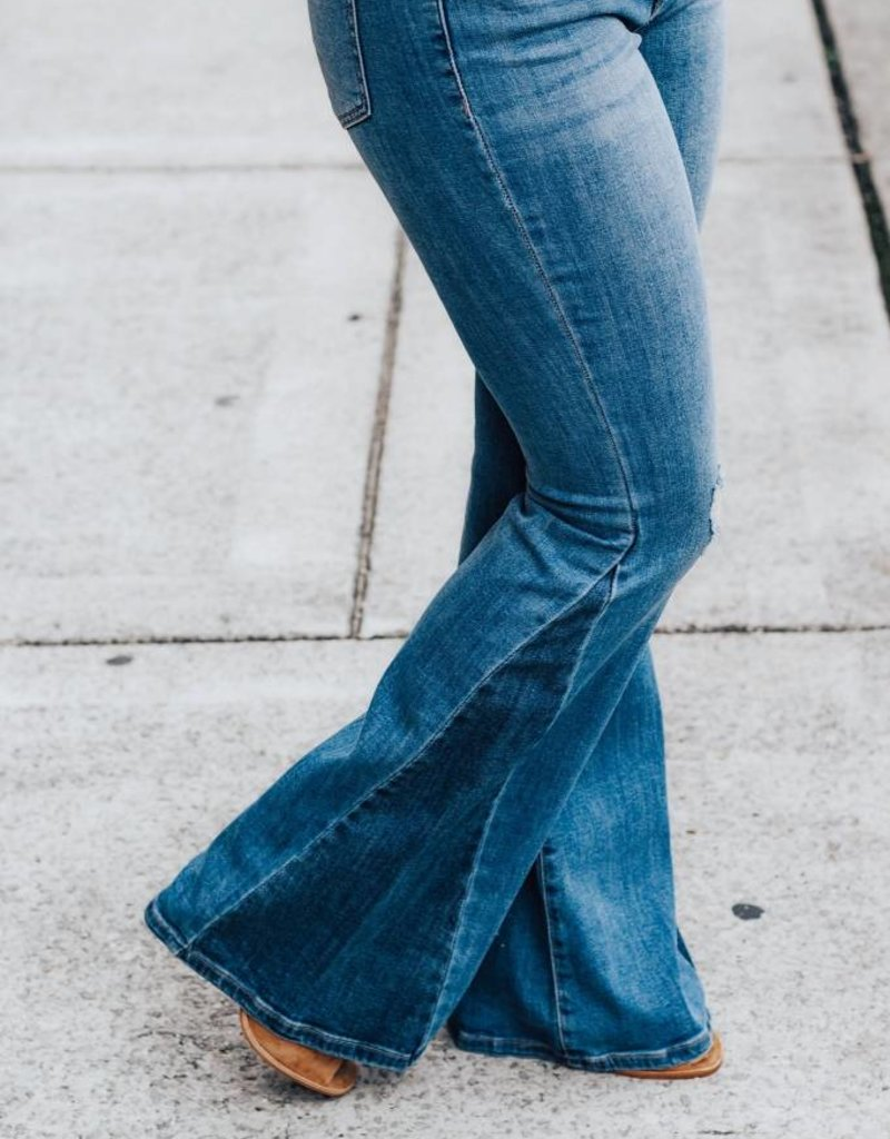 LUXE Been Too Long Flare Jean