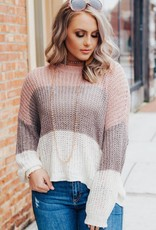 LUXE Feel It Still Striped Sweater
