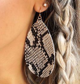 LUXE Serious About Snakeskin Statement Earring