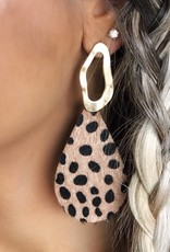 LUXE Dalmation Print Statement Earrings