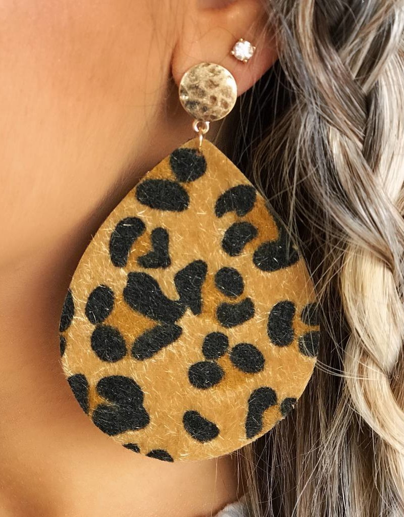 LUXE Wild About Cheetah Statement Earring