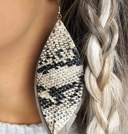 LUXE Keep it Cool Snakeskin Statement Earring