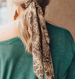 LUXE Never Overlooked Snakeskin Hair Scarf