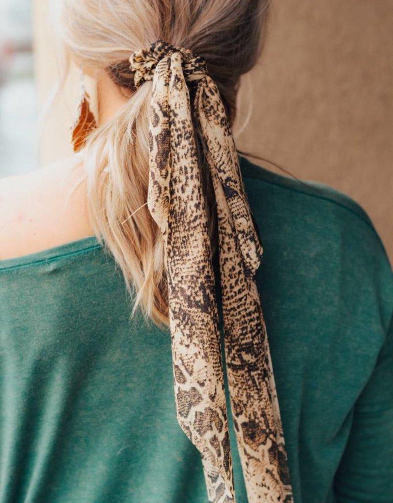 LUXE Never Overlooked Snakeskin Hair Scarf
