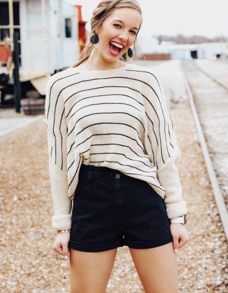 LUXE Scenic Route Striped Sweater