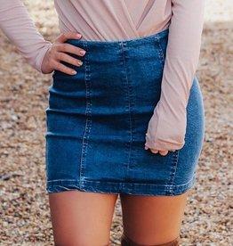 LUXE Make Them Jealous Denim Skirt