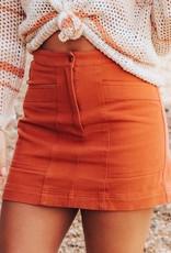 LUXE Secrets Out Denim Mini Skirt
