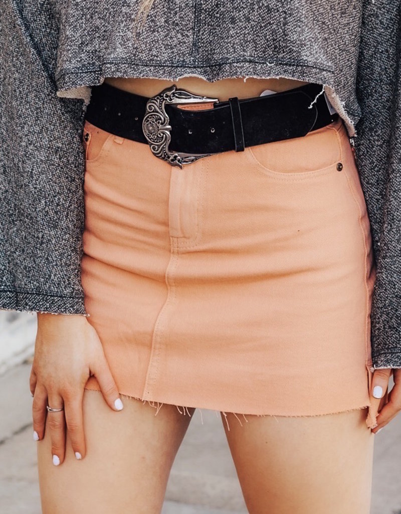 LUXE All Roads Lead To You Mini Skirt
