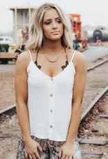 LUXE Focus On Fun Button Down Tank