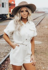 LUXE Away For The Summer Utility Romper