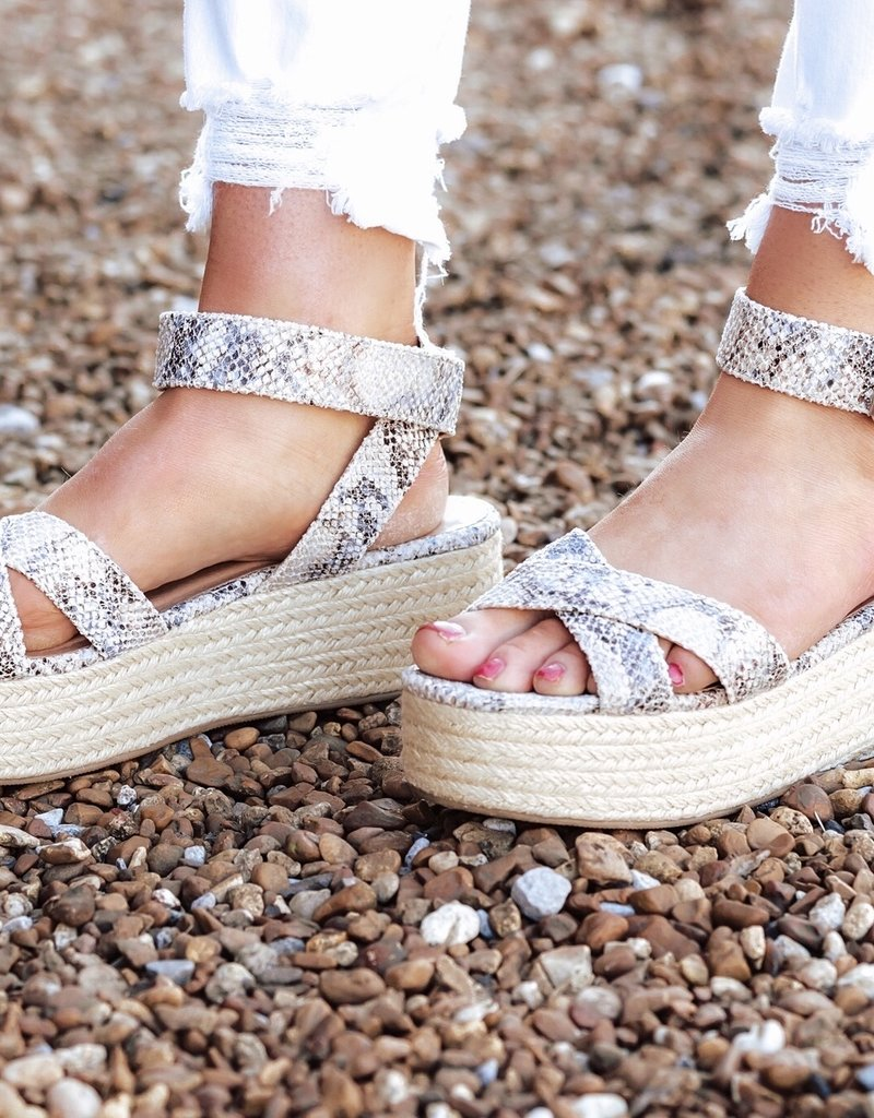CHINESE LAUNDRY Zala Snakeskin Sandal