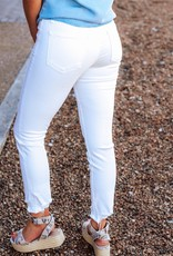 LUXE Make Your Own Luck White Skinny Jean