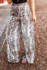 LUXE Say It Simply Snakeskin Pant