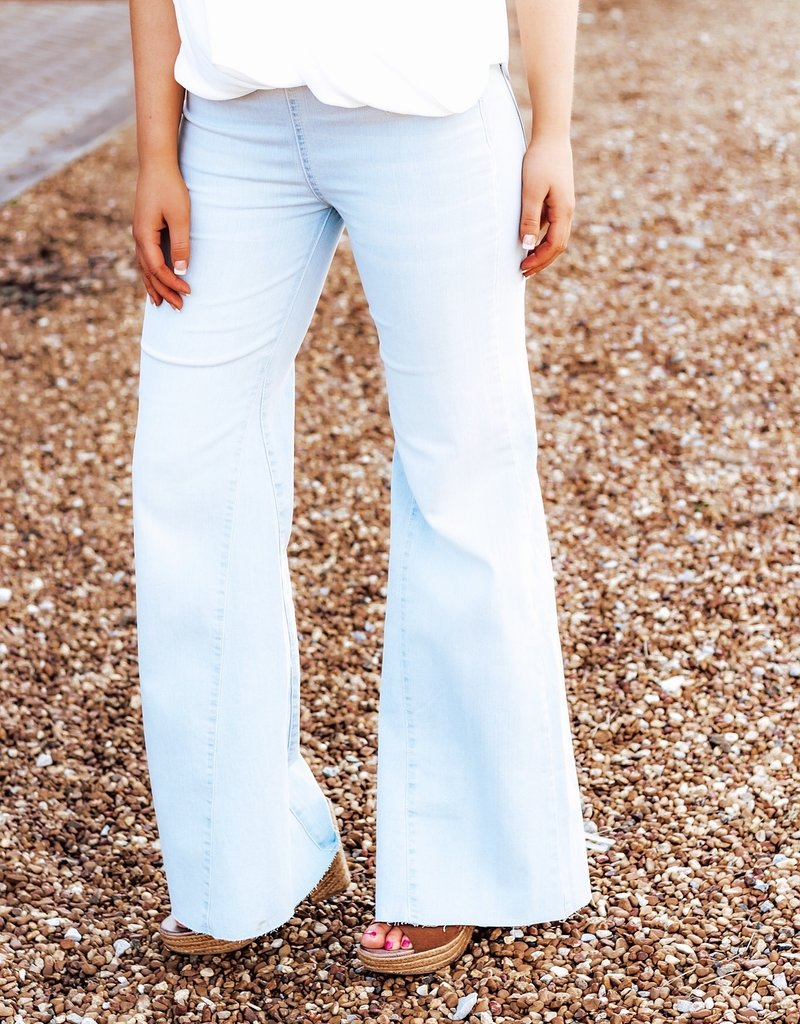 FREE PEOPLE Drapey Wide Leg Denim Jean