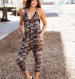 LUXE Flaunt Your Style Camo Jumpsuit