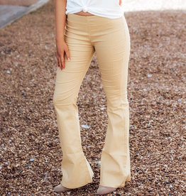 LUXE Perfect In Pinstripes Bell Bottom Pant