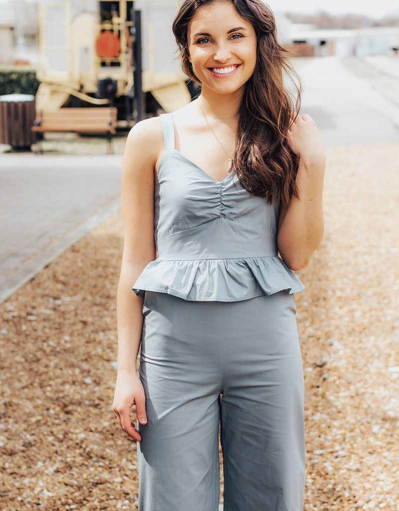 LUXE Timeless Love Peplum Jumpsuit