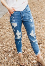 LUXE Living The Dream Distressed Boyfriend Jean