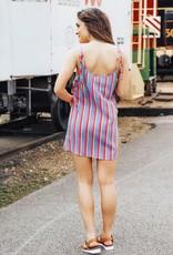 LUXE Sunset Getaway Striped Tie Dress