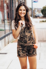 LUXE Everyday Adventures Camo Overall Shorts