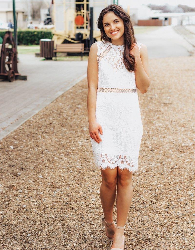 LUXE Beautiful Hearts Lace Dress