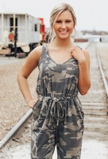 LUXE Chasing Beauty Camo Jumpsuit