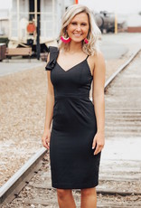 LUXE Driven By Love Ruffle One Shoulder Dress