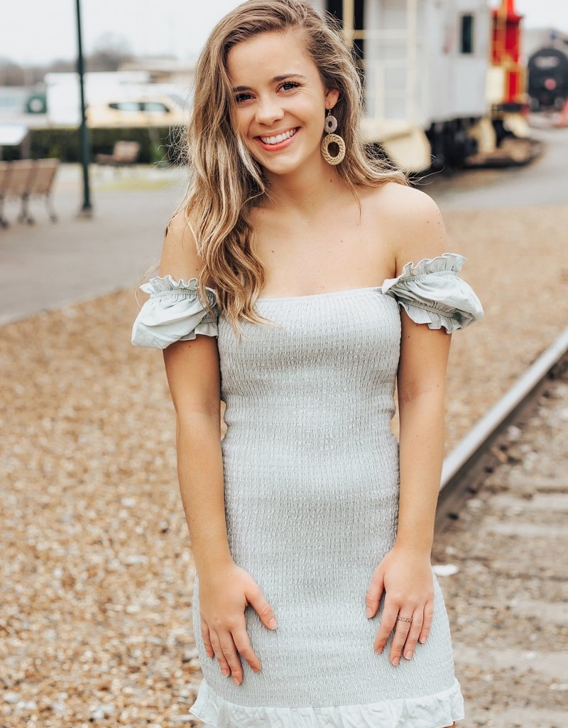 LUXE Driven By Love Smocked Mini Dress