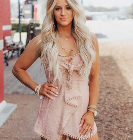 LUXE Keep On Dreaming Strapless Romper