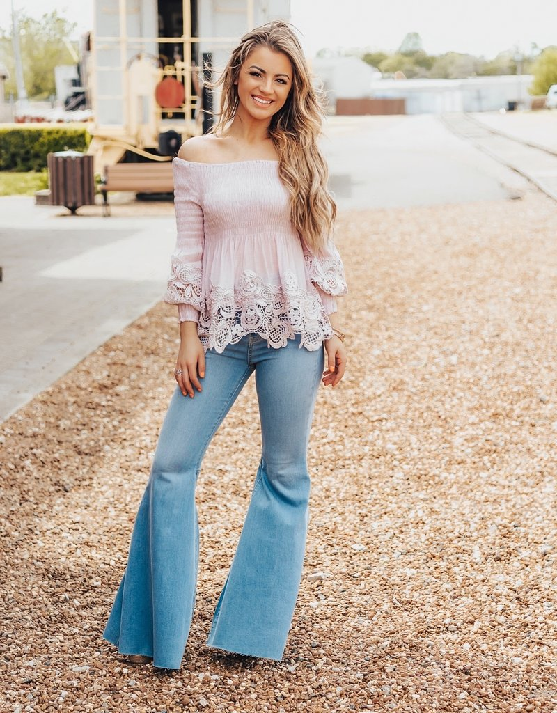 LUXE Romantic At Heart Off The Shoulder Top