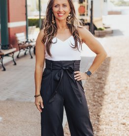 LUXE No Rules Tie Front Jumpsuit